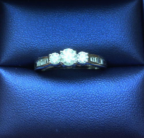 Diamond Ring - Round and Baguette